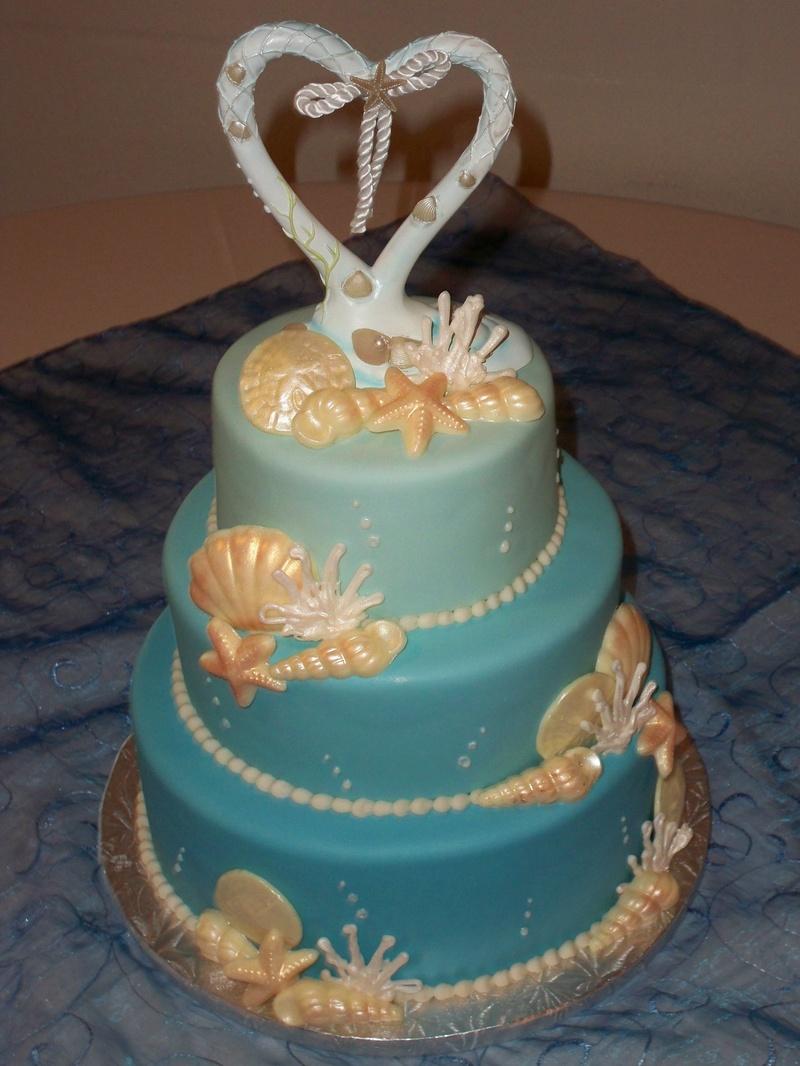 Blue Seashell Wedding