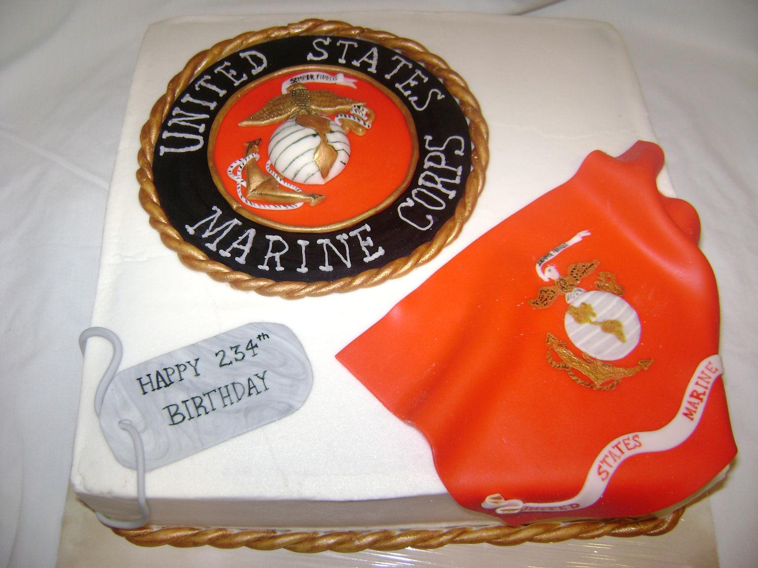 Marine Corps Birthday Cake Pictures